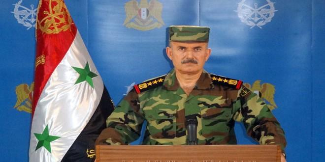 """سخنگوی ارتش"""" جنگنده های ارتش عربی سوریه 1357 موضع گروه های تروریستی را هدف قرار می دهد وشماری زیاد از اعضای آن به سوی مرزهای ترکیه پا به فرار گذاشتند"""