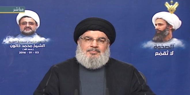 سید حسن نصرالله دبیرکل حزب الله: پایه و اساس و خاستگاه اندیشه تکفیری که ویران میکند و میکشد و کشتارهای دسته جمعی را مرتکب میشود و تمام ملتهای جهان را تهدید میکند رژیم آل سعود است