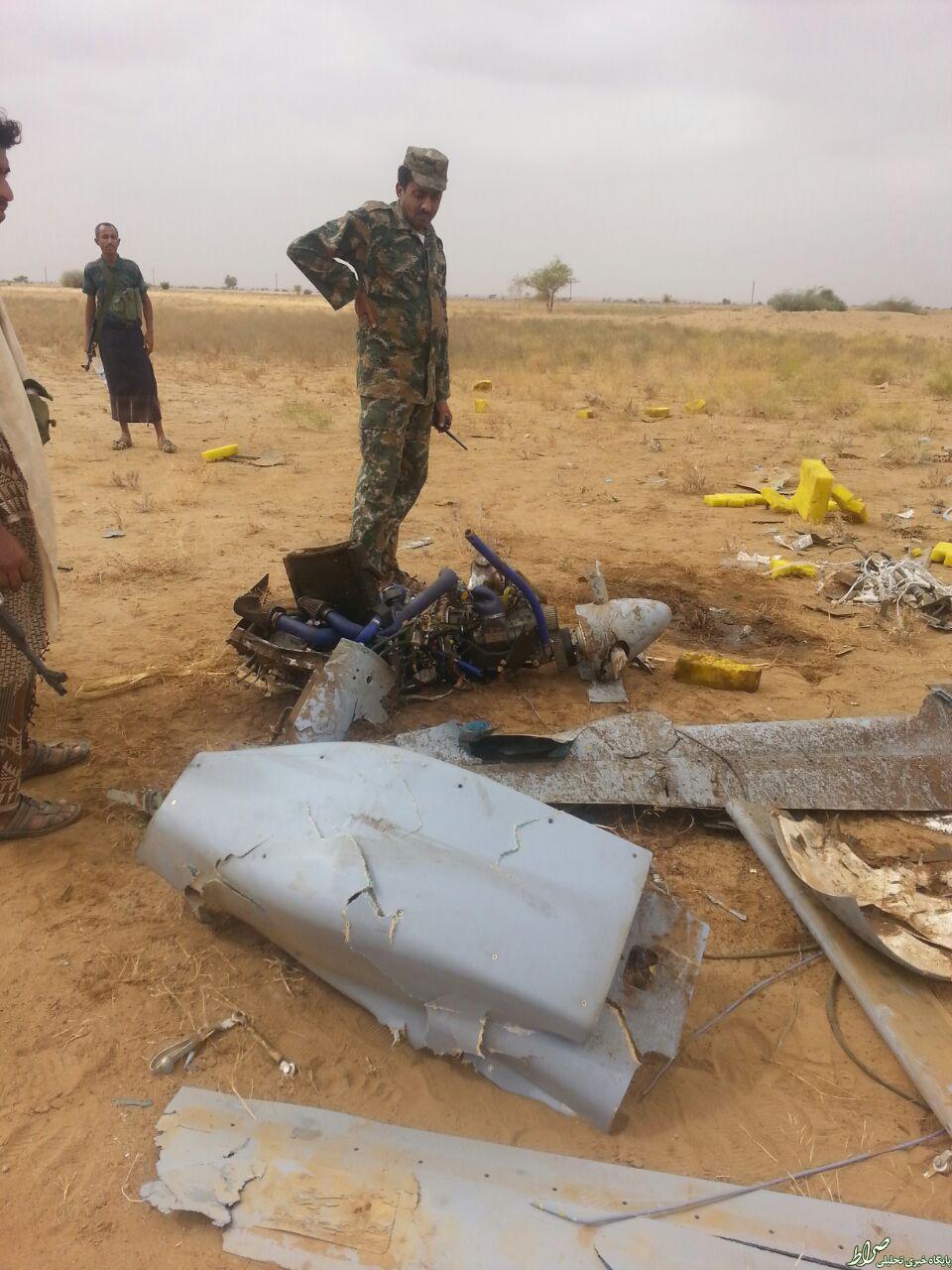 سقوط پهباد سعودی در یمن +عکس