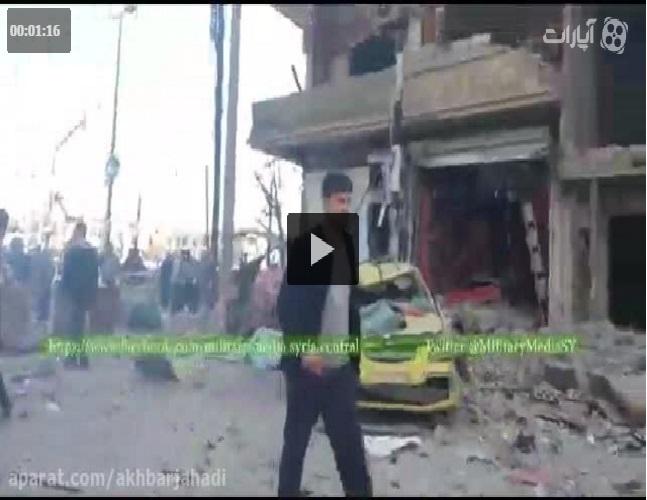انفجار در منطقه سیده زینب دمشق+فیلم