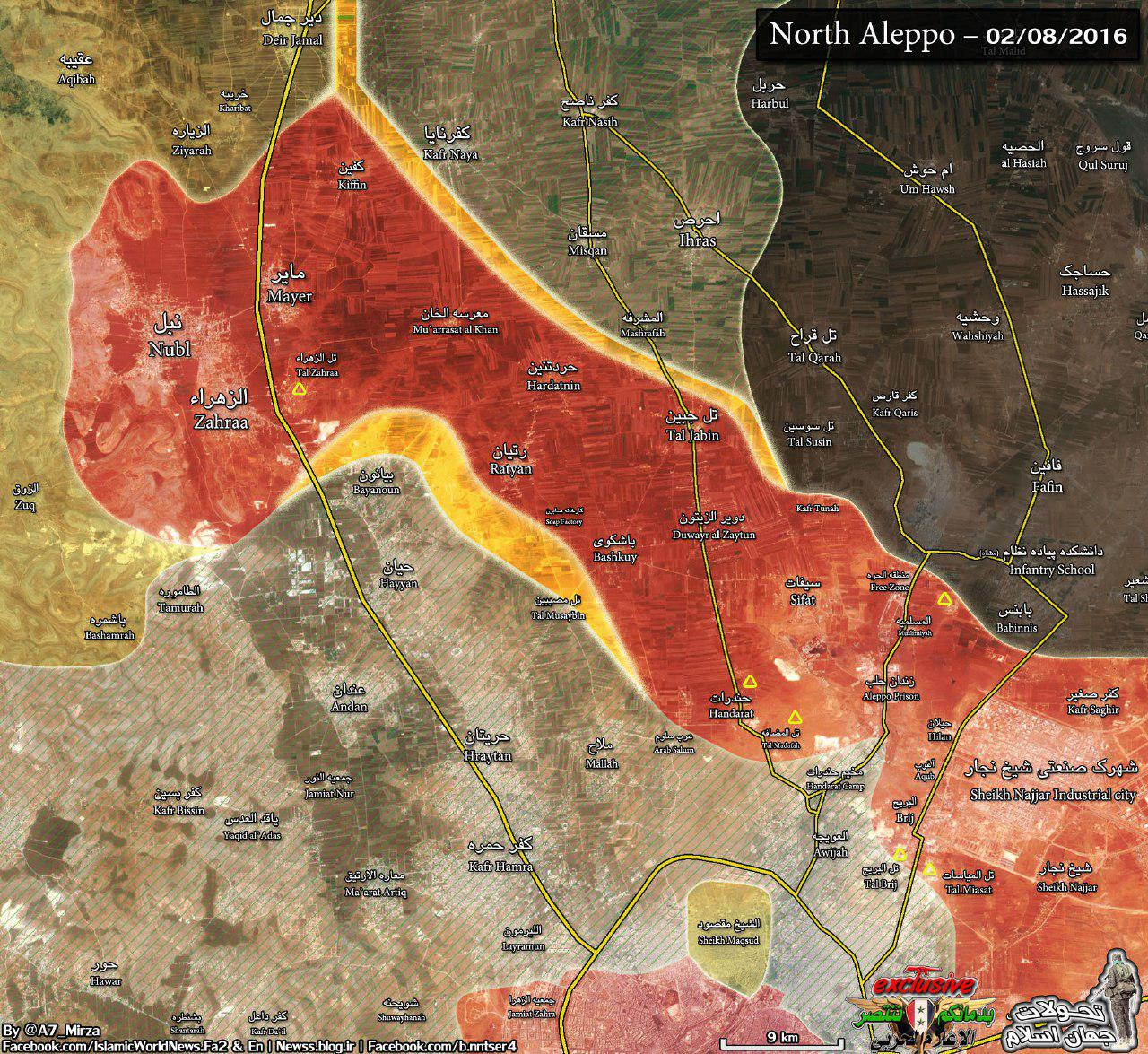 نقشه شمال حلب
