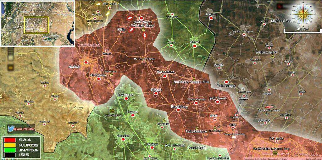 نقشه جدید - بعد از ازاد سازی کفرنایا