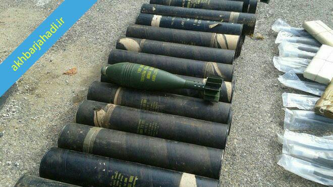 کشف سلاح و مهمات اسراییلی از تروریست ها+عکس