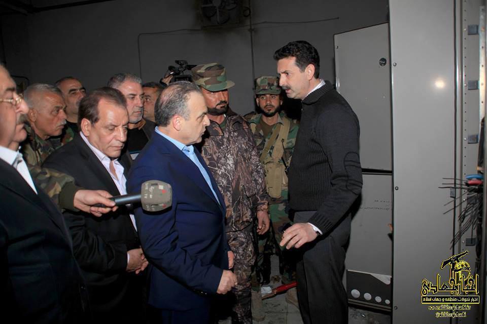 عکس – وزیر برق سوریه در نیروگاه حرارتی حلب