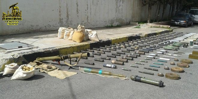 عکس – مهمات کشف شده از تروریست ها- السویداء