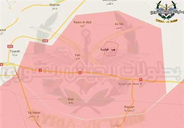 نقشه/ تسلط ارتش سوریه بر شهرک «فاح» در ریف حلب