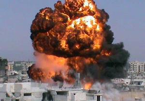حملات موشکی ترویست های داعش به شرق حماه