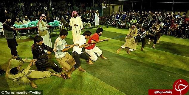 برگزاری بازی های المپیک داعشی در عراق/ از صندلی بازی تا طناب کشی به سبک داعش+ تصاویر