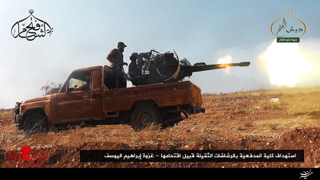گزارش تصویری از درگیری شدید ارتش سوریه و جبهه فتح الشام در جنوب حلب