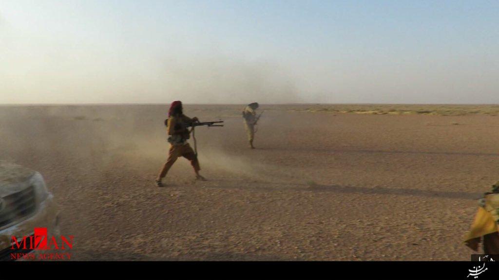 عکس : یورش تروریست های داعش به مواضع نیروهای امنیتی عراق