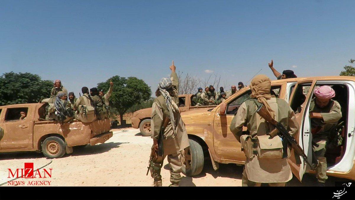 تصاویر داعش از درگیری با ارتش سوریه در پایگاه هوایی کویرس