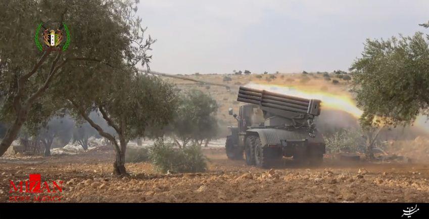 حملات راکتی صقور الجبال علیه ارتش سوریه در حلب + تصاویر