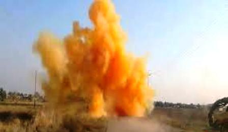 حمله شیمیایی داعش به مواضع ارتش عراق در قیاره