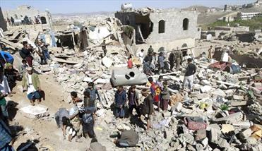 یورش گسترده جنگندهای سعودی به خانهها در یمن