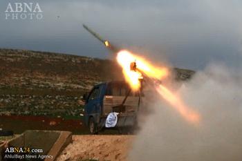 حمله موشکی تروریست های تکفیری به شهر شیعه نشین الزهرا در استان حلب