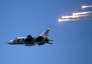 بمب افکن های روسی در سوریه افزایش یافت
