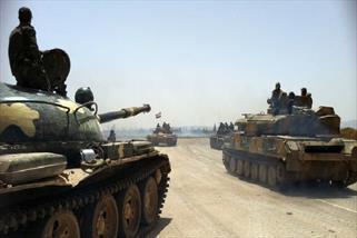 پیشروی ارتش سوریه در جنوب دیرالزور