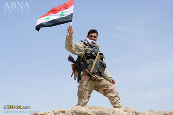 """آزادسازی شهرک """"تادف"""" در شمال شرق حلب"""