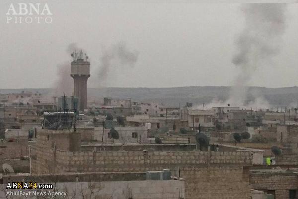 حمله موشکی تروریستها به شهر شیعهنشین الزهرا سوریه + عکس