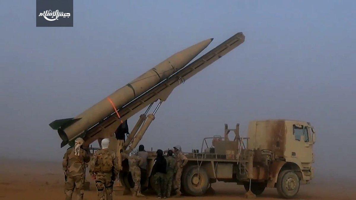 ادعای جیش الاسلام درخصوص شلیک موشک بالستیک در ریف دمشق + عکس