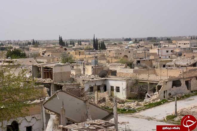 گزارش تصویری شهر تازه آزاد شده دیرحافر در حومه حلب