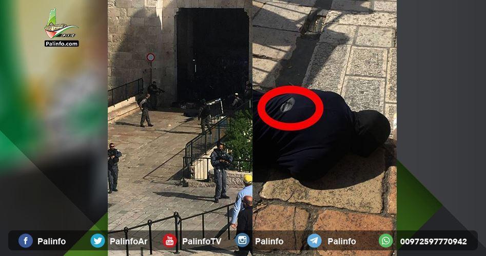 """شهادت مادر شهید """"مصطفی نمر"""" به ضرب گلوله عناصر پلیس رژیم صهیونیستی"""