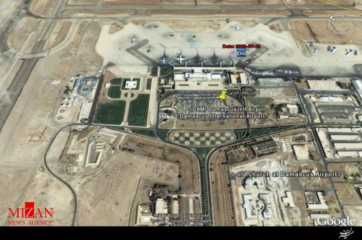 انفجار مهیب در فرودگاه بین المللی دمشق/ منابع روسی: اسرائیل فرودگاه را هدف قرار داد