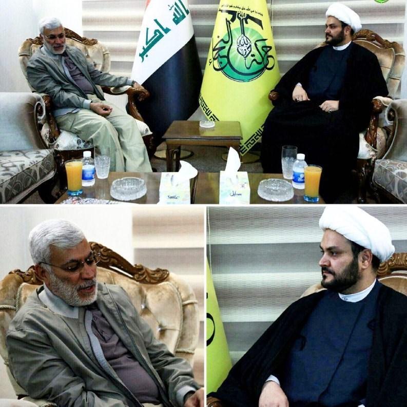 دیدار جانشین حشد الشعبی با شیخ اکرم الکعبی + عکس