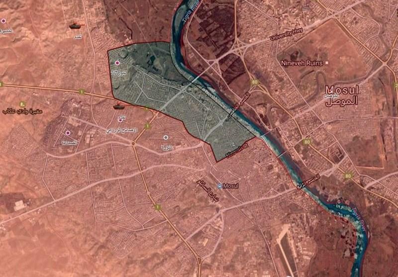 المیادین: تنها ۴ کیلومتر مربع از شهر موصل در اختیار داعش باقی مانده است