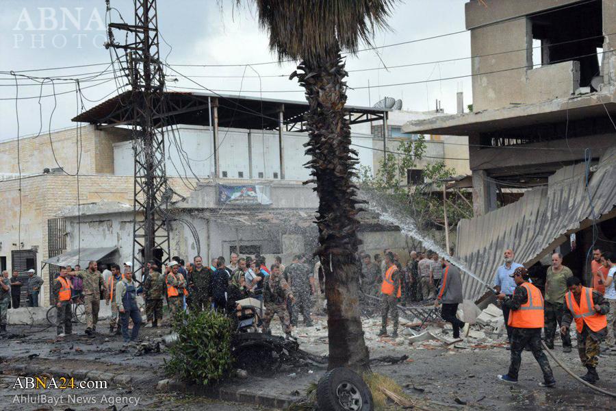 عکس خبری/ انفجار خودروی بمب گذاری شده در شهر حمص سوریه