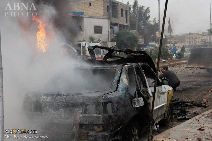 انفجار خودرو بمبگذاری شده در شهر اعزاز سوریه + تصاویر