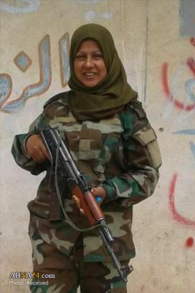 شهادت یک بانوی عضو الحشد الشعبی در جنگ با داعش + عکس
