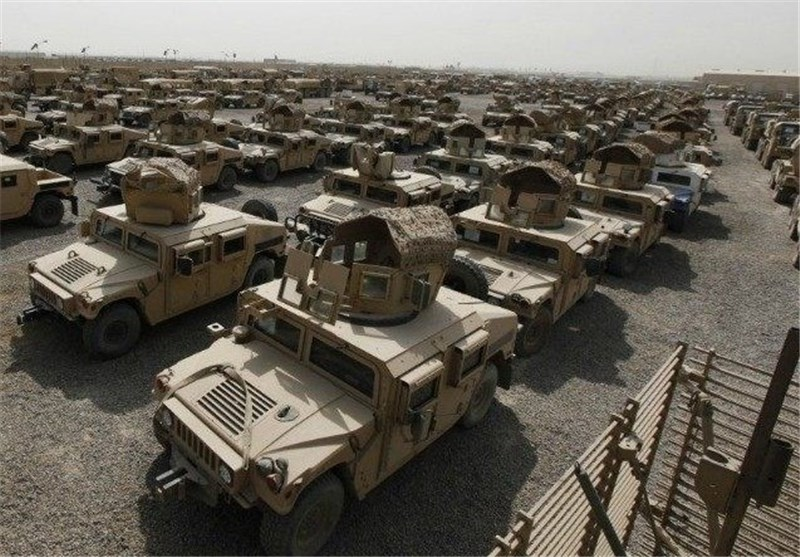 محموله خودروهای زرهی آمریکا در بندر «کراچی»/۶۰۰ «هاموی» به افغانستان منتقل میشوند