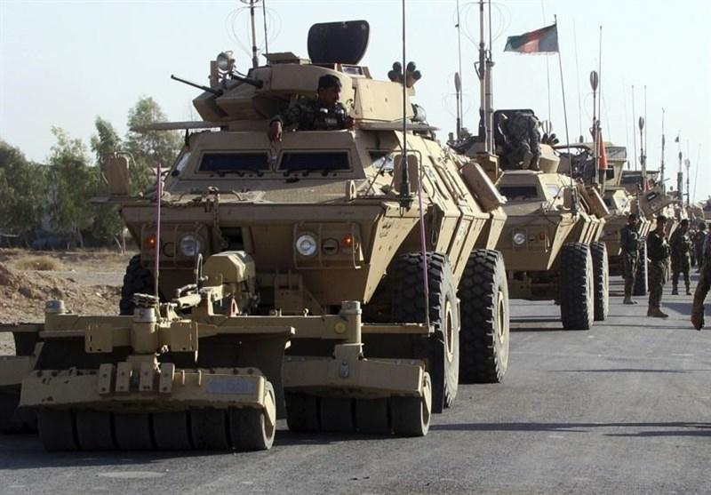 انفجار ۲۰ خودروی نظامی در حمله طالبان به کاروان نیروهای امنیتی افغان