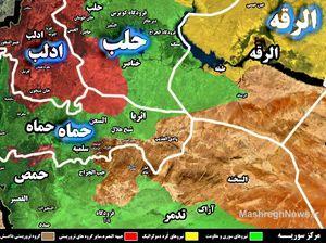 شروع عملیات بزرگ در شمال غرب فرودگاه تی ۴؛ سه گانه مرگ داعش در استان حماه تکمیل شد + نقشه میدانی