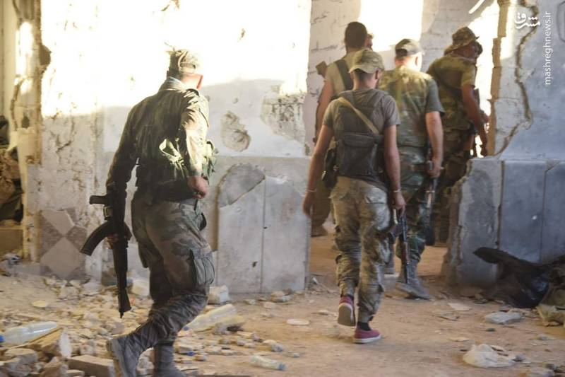 نبرد سنگین در مثلث مرگ دمشق؛ جنگ زیر زمینی در غوطه شرقی دمشق ادامه دارد + تصاویر