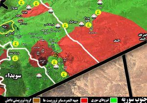 پاکسازی۲۴۵ کیلومتر از مساحت آلوده در بادیه الشام؛ ۷ کیلومتر تا محاصره کامل تروریست ها در جنوب غرب دمشق +نقشه میدانی