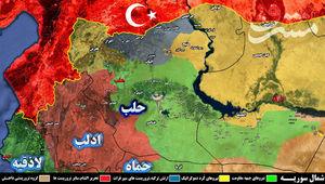 ارتباط نیروهای کرد با جنوب شرق رقه در آستانه قطع شدن/ ۵۰ درصد رقه به کنترل نیروهای جبهه مقاومت درآمد + نقشه میدانی