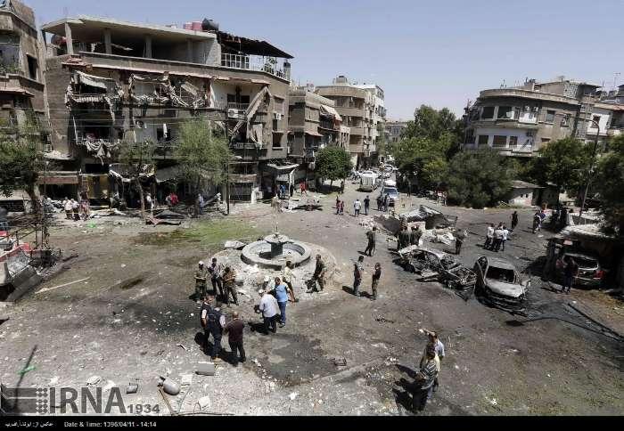 انفجار تروریستی در میدان التحریر دمشق | تصاویر