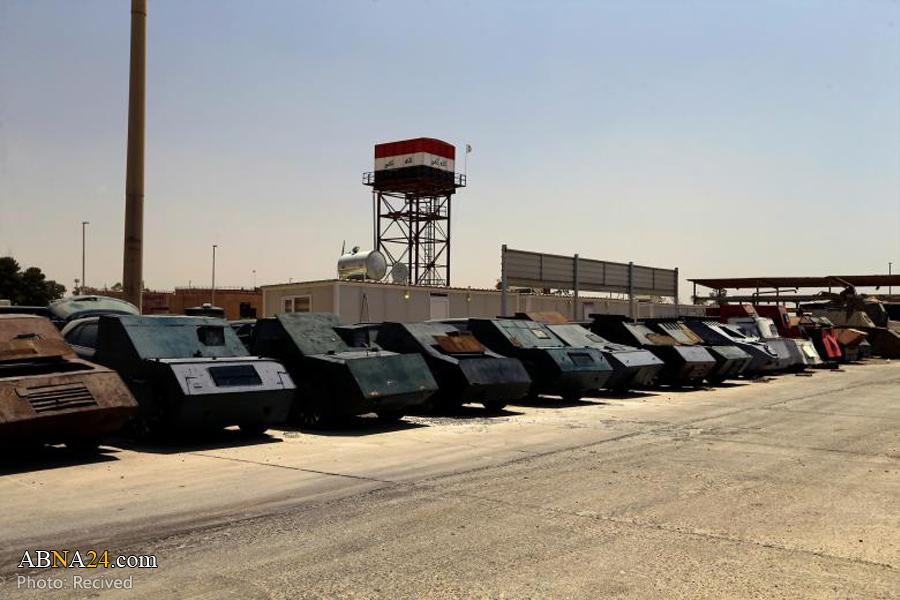 نمایشگاه خودروهای انتحاری داعش در موصل