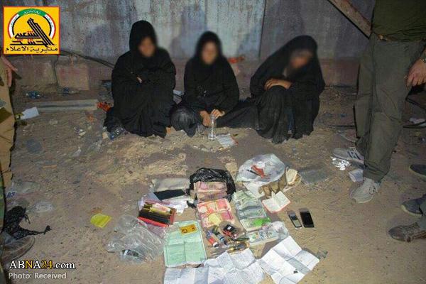 نیروهای الحشد الشعبی ۳ زن انتحاری داعش را دستگیر کردند + عکس