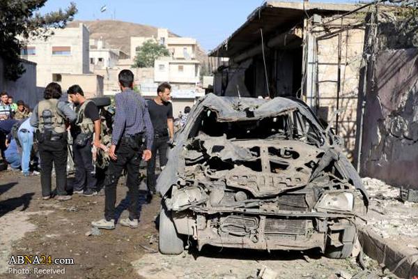 انفجار در اعزاز سوریه ۱۱ کشته و زخمی بر جای گذاشت + تصاویر