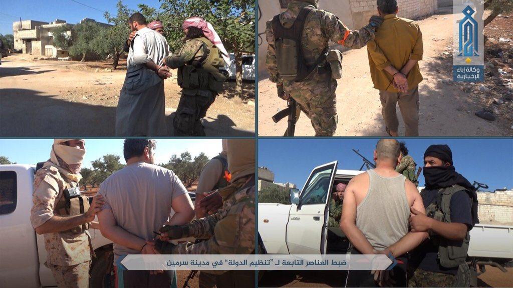 جبههالنصره ۱۰۰ تروریست داعش را در ادلب اسیر کرد + عکس
