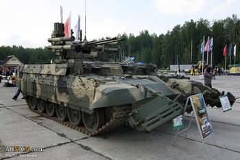 روسیه تانک نابودگر را در سوریه مستقر کرد