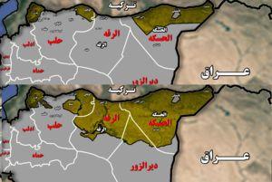 از روزگار سخت نیروهای کرد در سال ۲۰۱۴ تا توهم تشکیل اقلیم کردستان در سال ۲۰۱۷ + نقشه میدانی و عکس