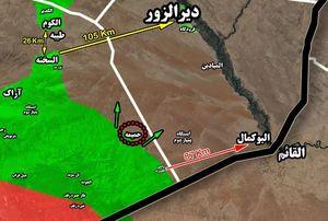 جزئیات پیشروی ها در جنوب شرق استان حمص/ ارتفاع « ابوفارس» آزاد شد/ ورود به آخرین قلعه داعش در سوریه در دستور کار + نقشه میدانی