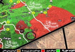 آزادی ۲۰۰ کیلومتر مربع از مساحت های اشغالی در جنوب شرق استان دمشق؛ حلقه محاصره تروریستهای مورد حمایت آمریکا تنگتر شد + نقشه میدانی