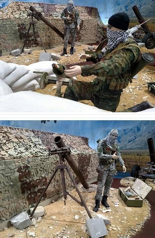روسیه غنایم داعش را به نمایش گذاشت+عکس