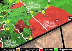 آزادی پنج منطقه راهبردی در مزرهای مشترک با اردن/ فرار تروریستها به سمت پایگاه نظامی آمریکا + نقشه میدانی