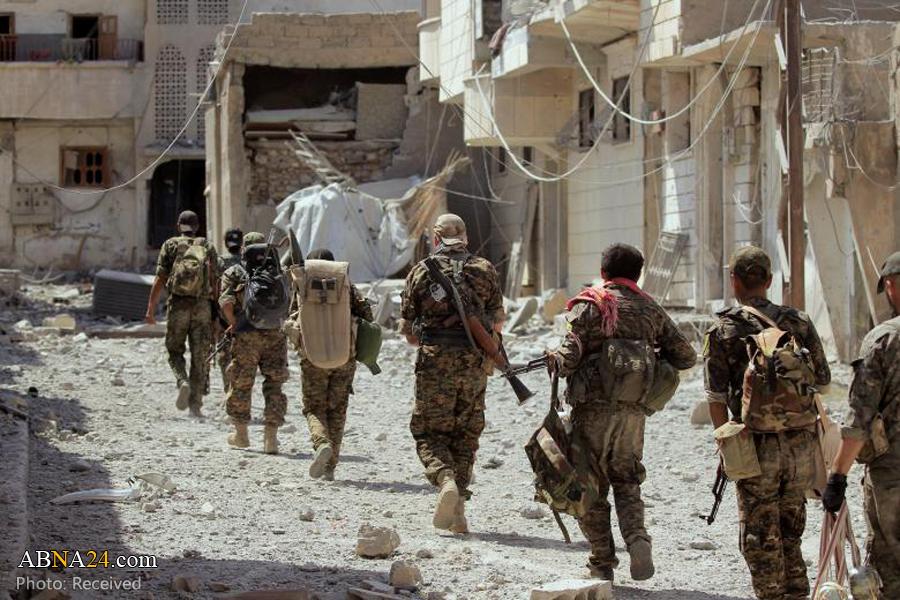 ادامه نبرد با داعش در شهر رقه سوریه